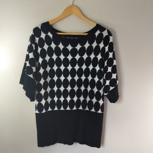 Cable & Gauge Oversized Sleeve Top